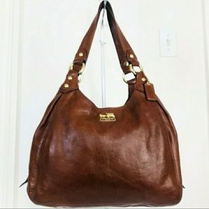 Coach Brown Leather Madison Maggie